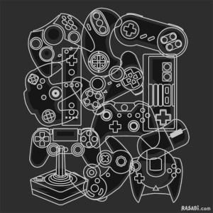 t-shirt controllers nes nintendo sega playstation xbox