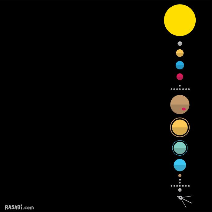 t-shirt minimalist solar system