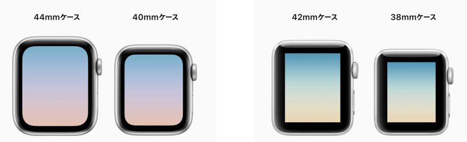 画面の表示領域が拡大したApple Watch series4