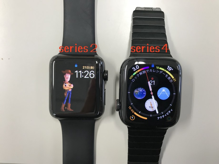 Apple Watch series2とseries4の比較