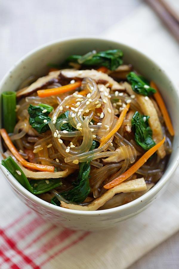 Rice Long Korean Chae Jap Noodles