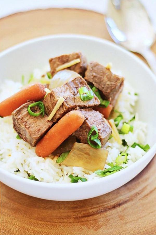 Crock Pot Asian Beef Stew | Easy Delicious Recipes