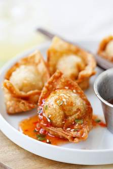 Fried Wonton (Best Homemade Wontons Recipe) - Rasa Malaysia