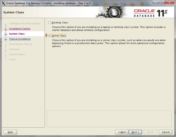 Oracle Install Step 3