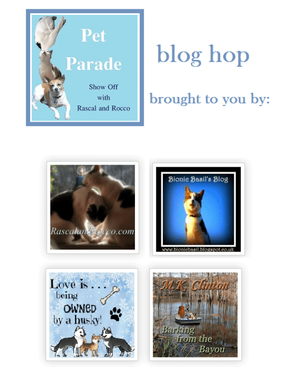 Pet Parade blog hop linky party is for all pets and animal lovers.