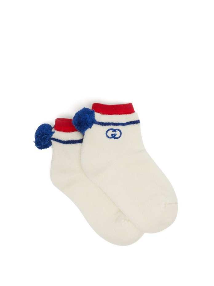 Gucci Pom Pom Ankle Socks