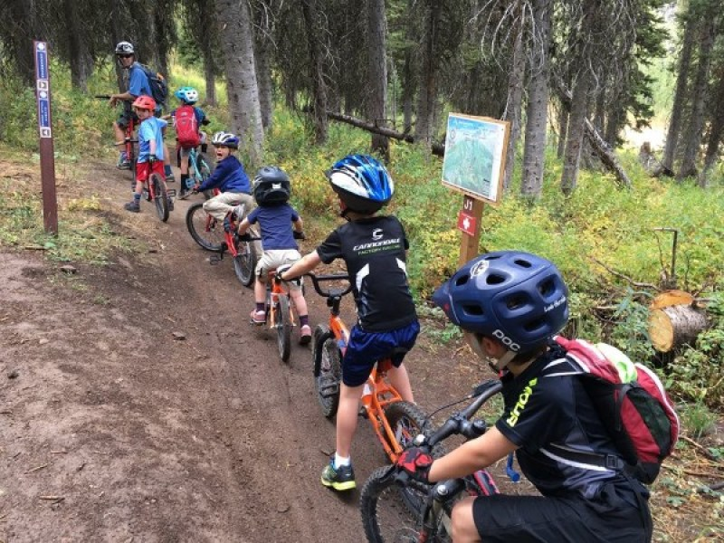Kids Biking at WYDAHO