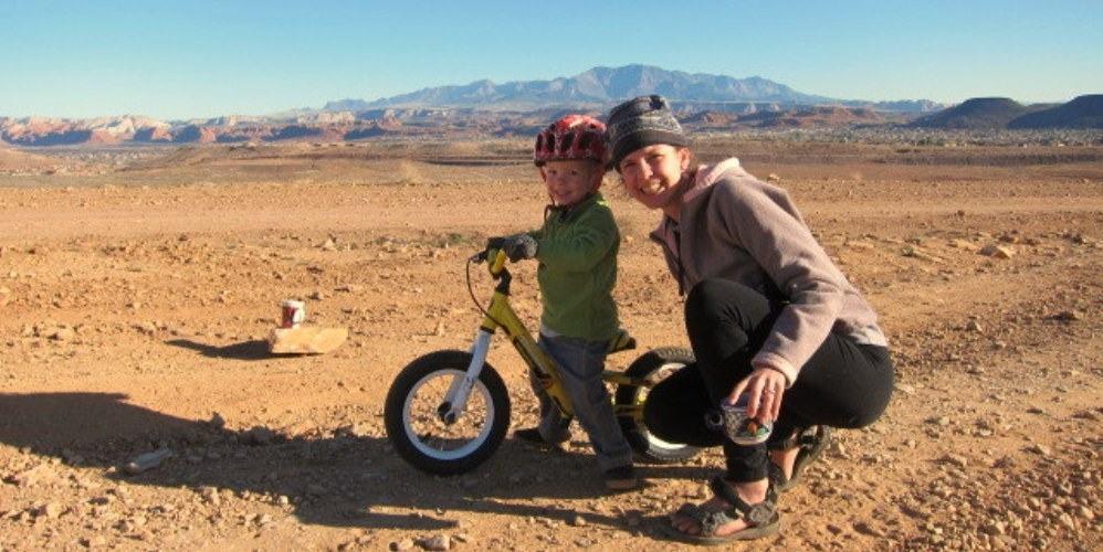 Mountain bike mom