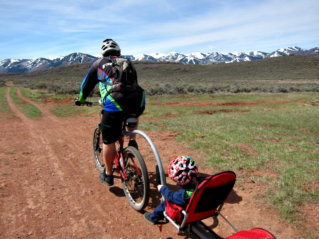 Riding Off-Road with the Weehoo Trailer-Cycle