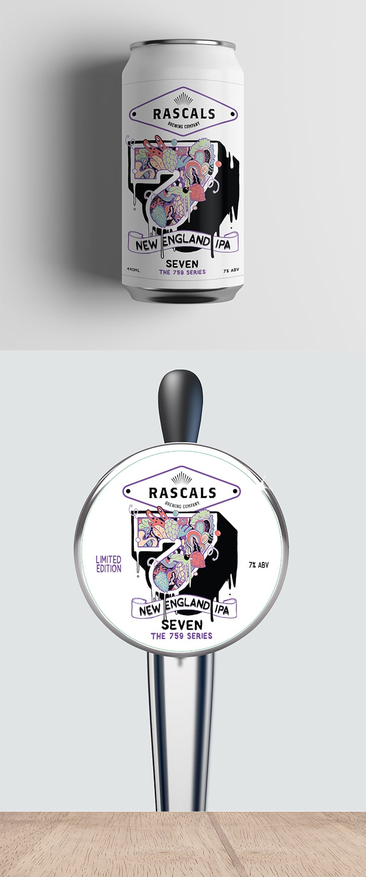 Rascals Craft Brewing 7 New England IPA Tasting Notes