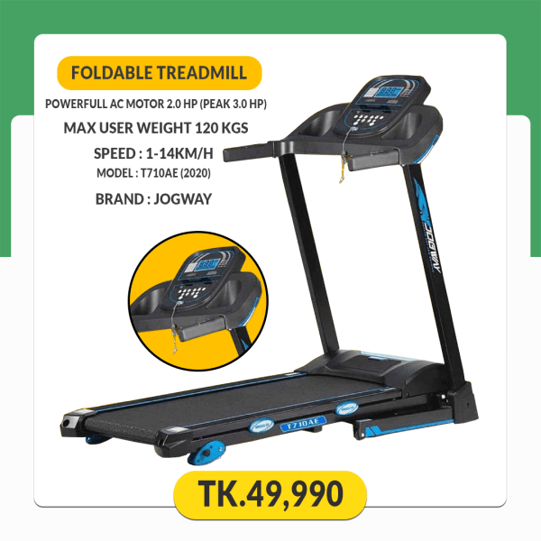 JOGWAY T710EA (AC Motor 2.0 HP) Foldable Motorized Treadmill