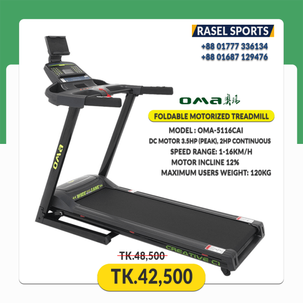 Motorized Treadmill (3.5HP Peak) Oma-5116CAI