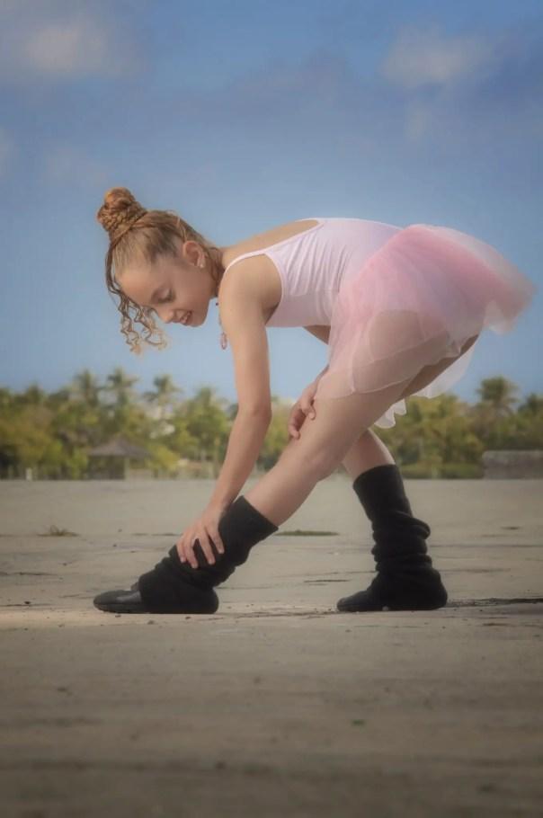 Young female model Maryianna Salpadimos as a ballerina