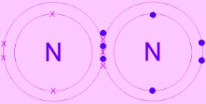 N2 অণুতে সমযােজী বন্ধন