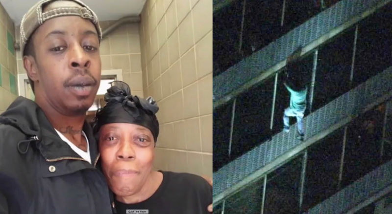 Man Climbs 19-Story Building To Save His Mother