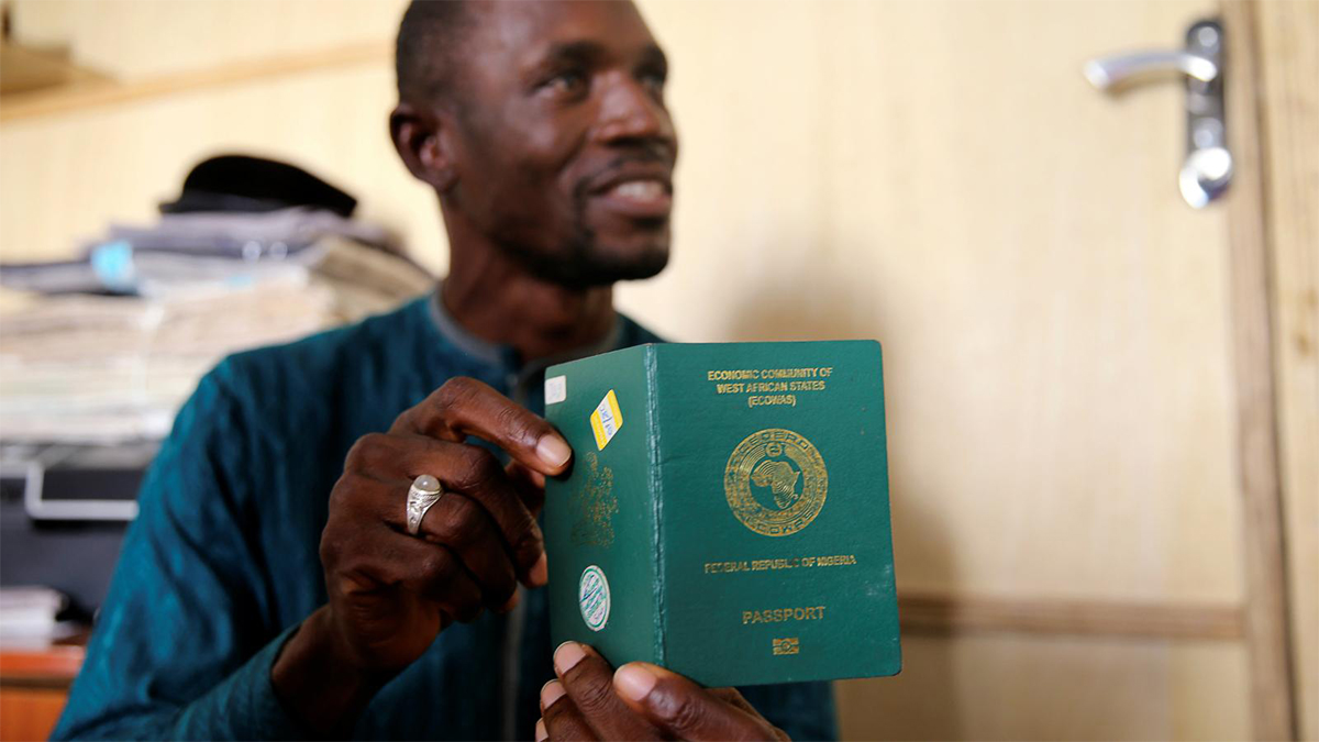Nigeria has dropped the most in the ranking of powerful passports over the last decade