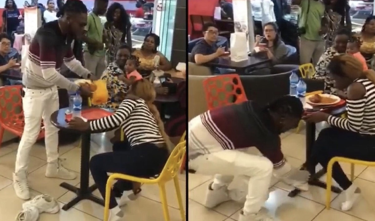 VIDEO: After His Marriage Proposal Was Rejected, Man Angrily Takes Off Snickers From Lady In Public