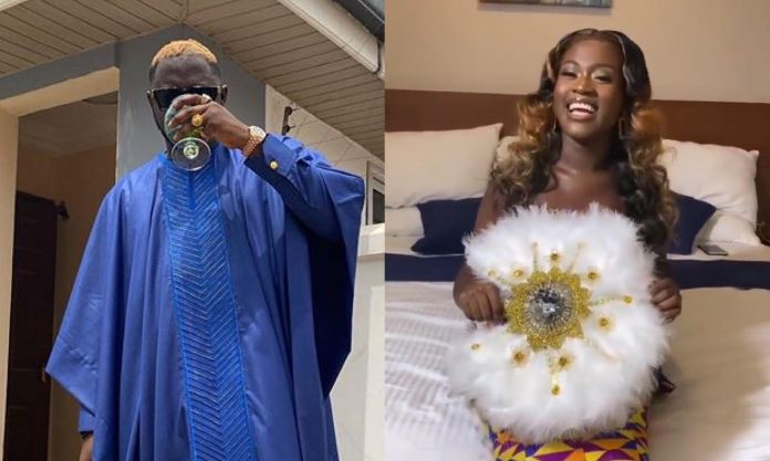 Videos: Watch As Fella Makafui And Medikal Arrive In Style For Their Traditional Wedding