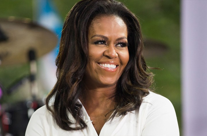 Michelle Obama twerked on by male dancer at Christina Aguilera concert