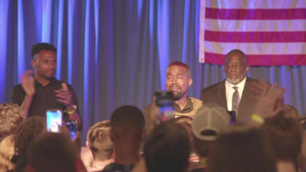'I almost killed my daughter' - Kanye West break down in tears at first campaign rally