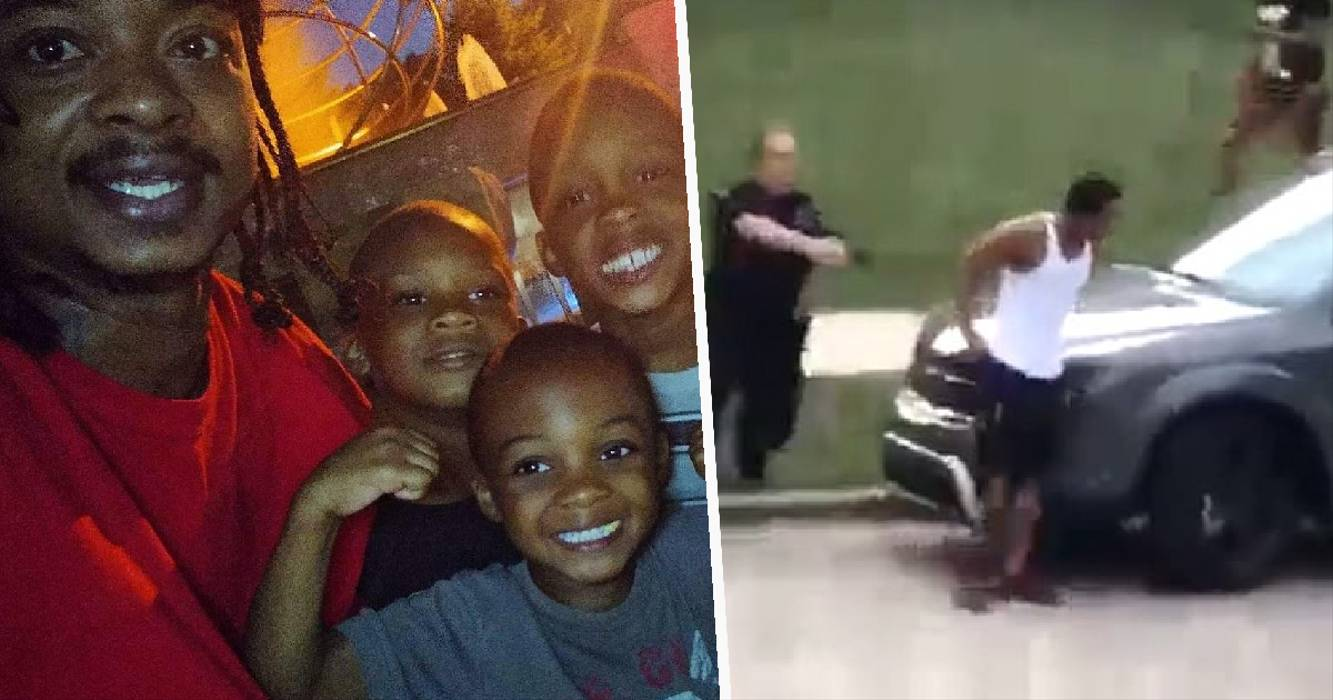 White Police Officer Shoots Unarmed Black Man Seven Times In The Back In Front Of His Children