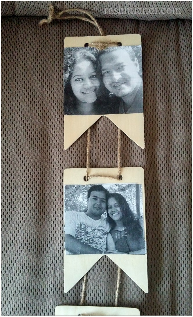 Hanging Wooden Picture Frame