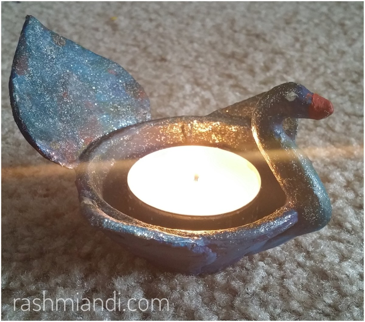 DIY Clay Swan Candle Holder