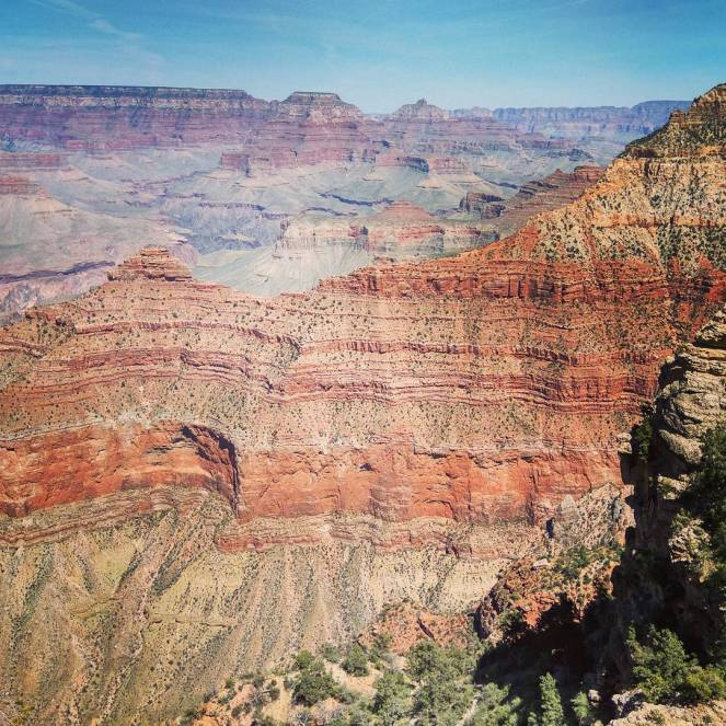 Nothing can really prepare you for the kaleidoscope of nature's colours you can see at the Grand Canyon, where the passage of time is measured not in years but centuries. One of the seven natural wonders of the world, the Grand Canyon offers views that are just awe inspiring. #grandcanyon #lasvegas #vegas #southrimgrandcanyon #naturalbeauty #nature #instalike #instapic #picofday #photooftheday #igers #travelblog #travelblogger #visitvegas #visitgrandcanyon #sevenwonders #color #kaleidoscope #gorge #canyon #arizona #visitarizona