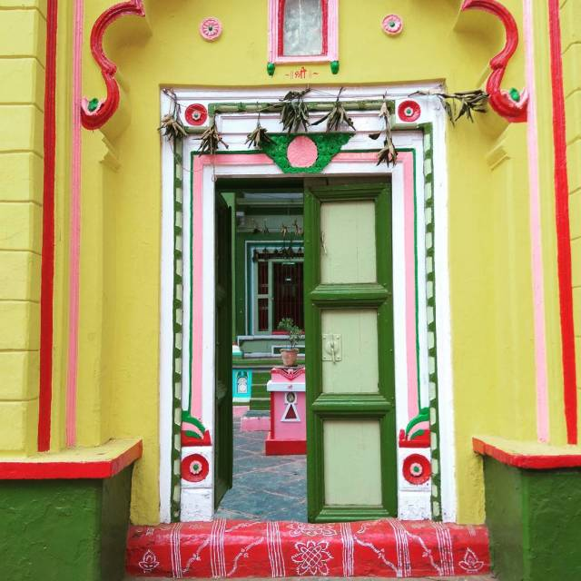 A burst of colour a door painted in bright hueshellip