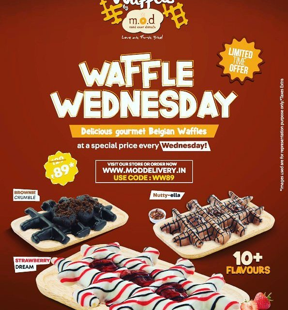 Waffle Wednesday from Mad over Donuts With delectable flavours likehellip