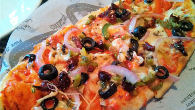 Pizza at Ciclo cafe