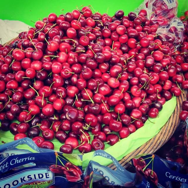 Fresh cherries on sale at Pier 39 San Francisco Ahellip