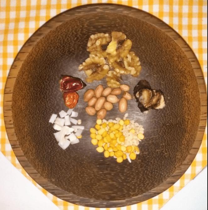 Ingredients for walnut chutney powder