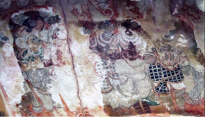 Frescoes at the Veerabhadra temple in Lepakshi