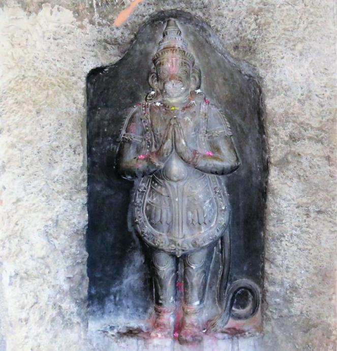 Carving of Lord Hanuman at Undavalli caves