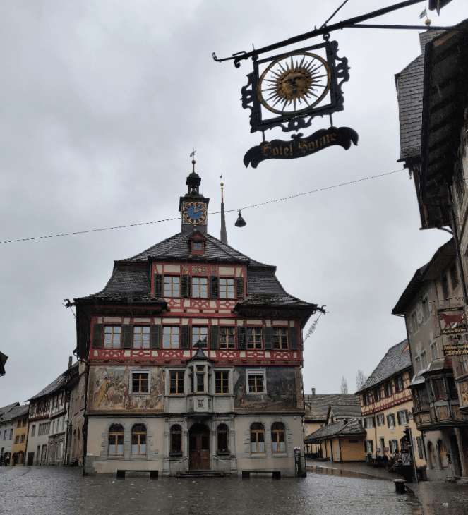 Town hall in town centre in Stein am Rhein