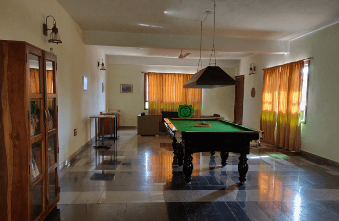Indoor games at Heritage resort Hampi
