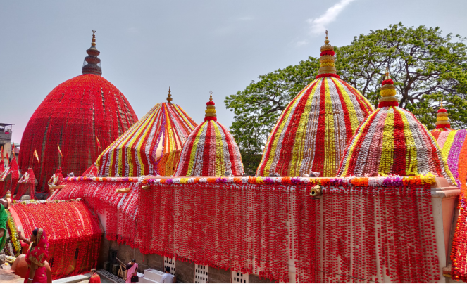 A view of the Kamakhya Mandir in Guwahati