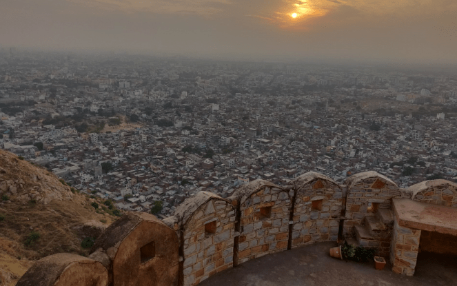 A view of the sunset from Nahargarh fort