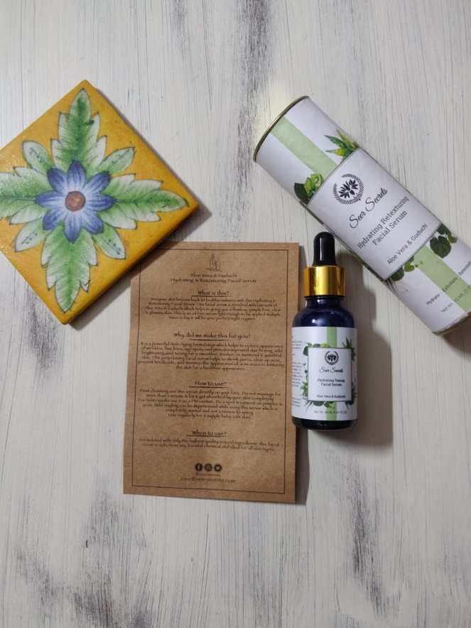 Aloe Vera and Guduchi Hydrating and Retexturing Facial Serum from Seer secrets