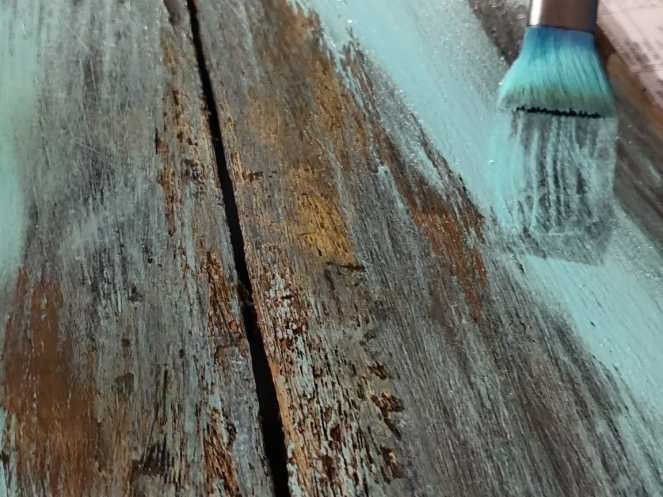 Painting the plank