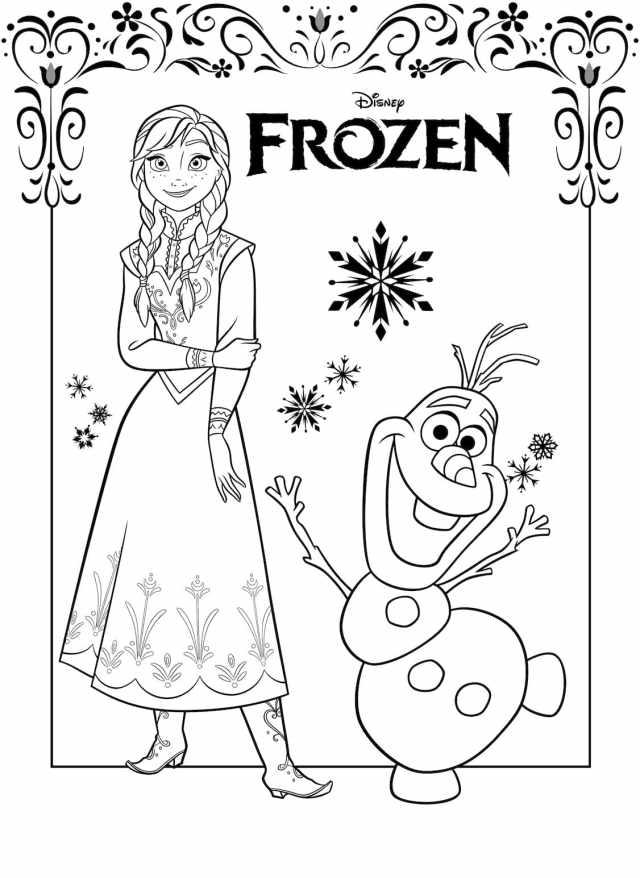 Coloriage La Reine des neiges (Frozen 21). 21 images de bonne qualité