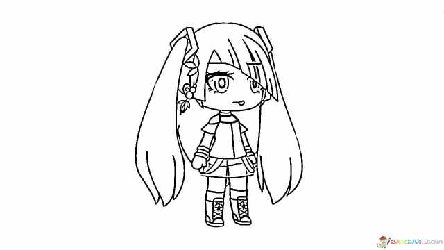 Gacha Life Coloring Pages  Unique Collection - Print for Free