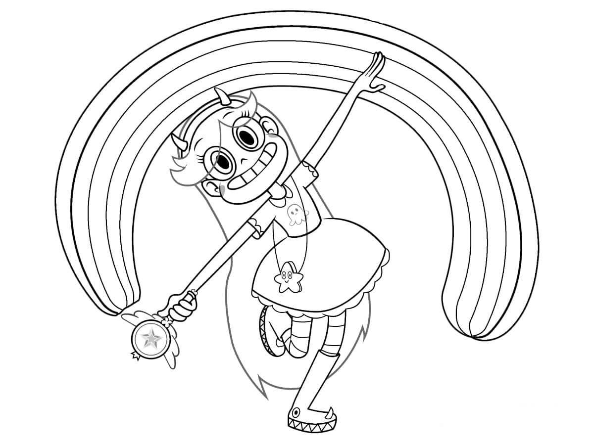 Star Vs The Forces Of Evil Coloring Pages Print The Princess
