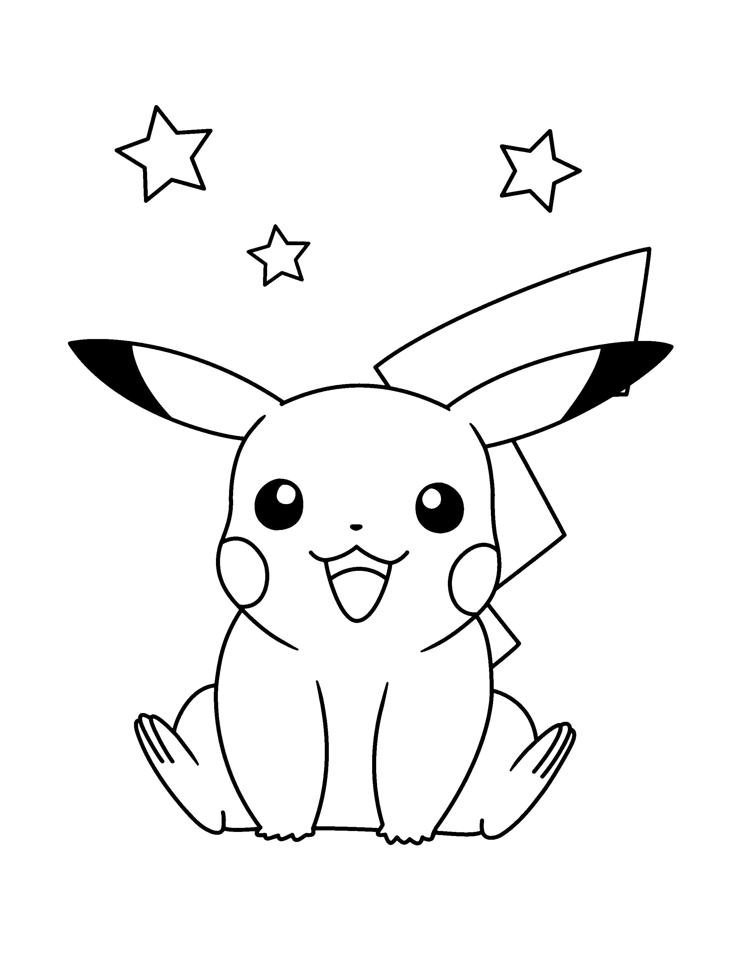 Pikachu Coloring Pages 100 Images Of All Pokemon Free Printable