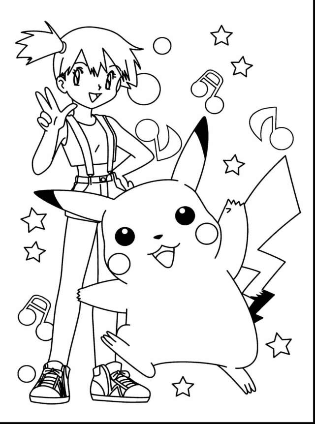 Pikachu Coloring Pages. 28 Images of All Pokémon Free Printable