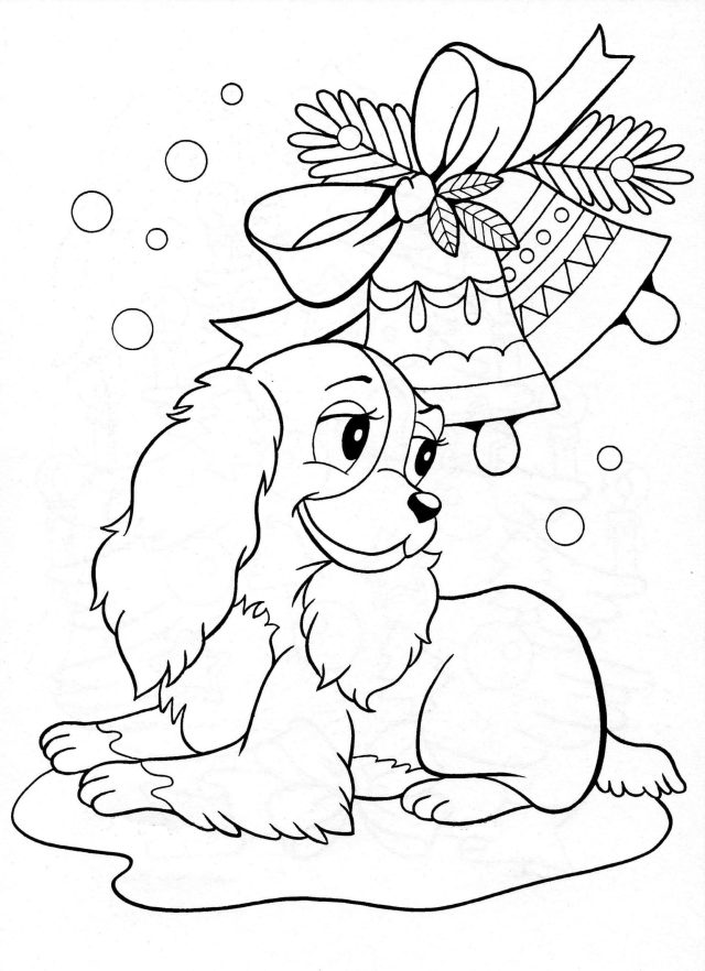 Christmas Puppy Coloring Pages  28 images Free Printable