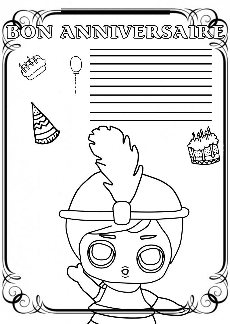 coloriage anniversaire imprimez la