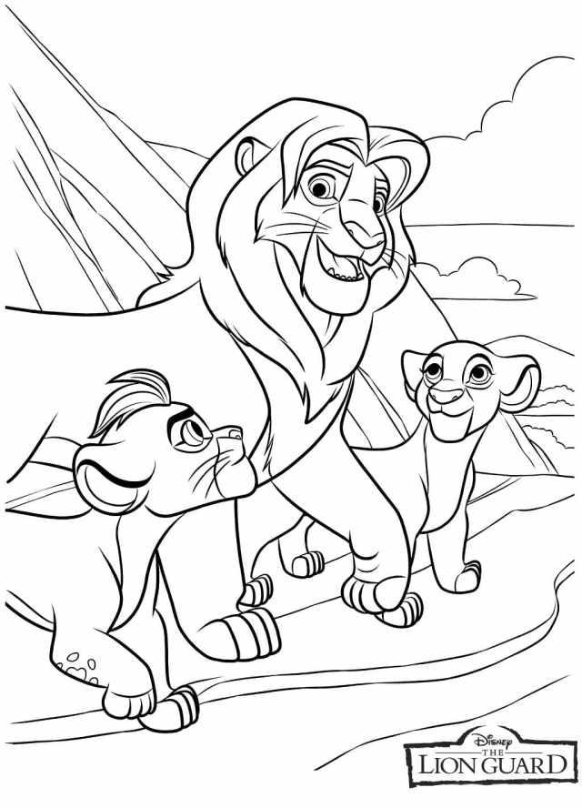 Coloriage La Garde du Roi Lion - 28 images à imprimer gratuits