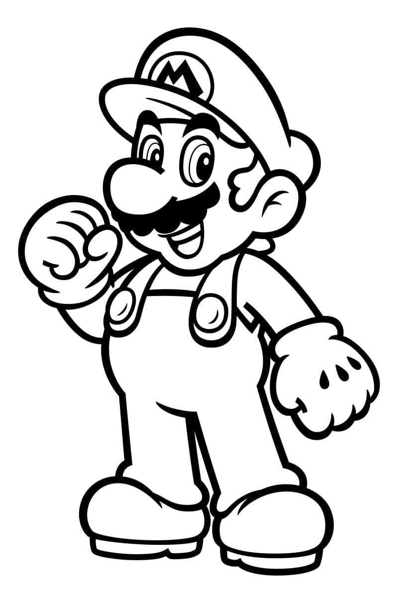 Mario Coloring Pages 100 Best Images Free Printable